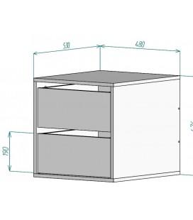 Встраиваемая тумба арт. 2712 для шкафа-купе 1200 Аризона