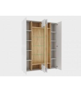 шкаф витрина 4-х дверная Куба арт. 1715 открытая