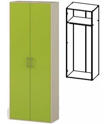 Шкаф 2-хдверный арт. 1.03 Милана дуб молочный / лайм