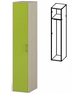 Шкаф однодверный арт. 1.16 Милана дуб молочный / лайм