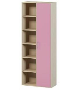 Стеллаж-Шкаф арт. 1.15 Милана дуб молочный / розовый