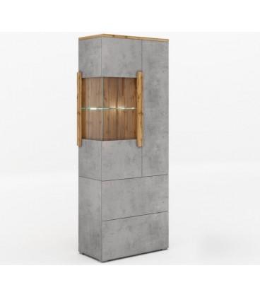 Шкаф - витрина 2 ящика Римини арт. 2004 правая